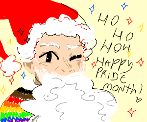 pride month but its christmas