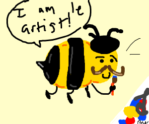 French Stereotype Bee is called Picasso...