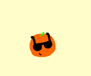 Orange with sunglasses