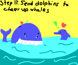 Step 10: The whales have depression.