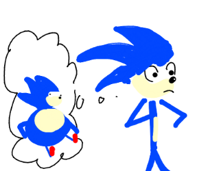 sonic remembering when he was obese