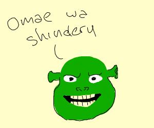 Shrek speaks Japanese