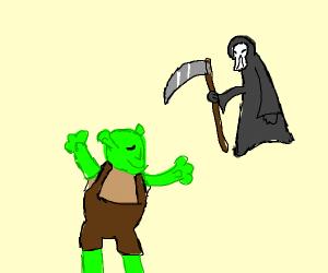 Shrek embraces death