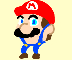 Mario's head but he ain't go no body onlylegs