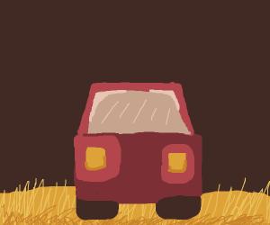 truck in the fields