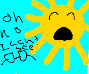 sun loses its glasses