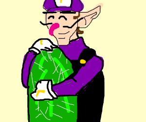 Waluigi Hugs a Cactus