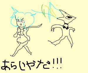 Whacky Japanese game show ft. Kawaii girls