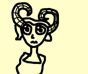 chibi girl w/ ram horns is confused