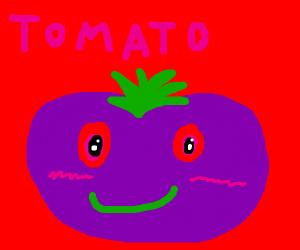 cute purple tomato