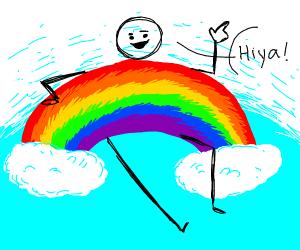 guy with rainbow body