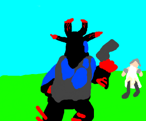 Devil fights angel in an epic gamer 1v1