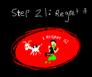 Step 20: Eat The Goat
