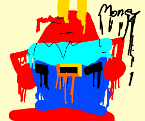 Mr Krabs is melting!
