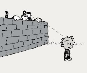 Hobbes stalking someone