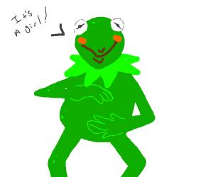 Kermit the frog is PREGNANT
