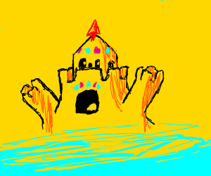 A marvelous sandcastle, fit for a sand king!
