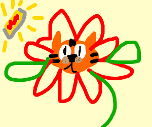 Garfield as a Flower
