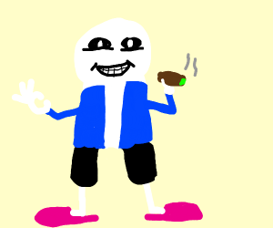 Sans is smoking the finest weed