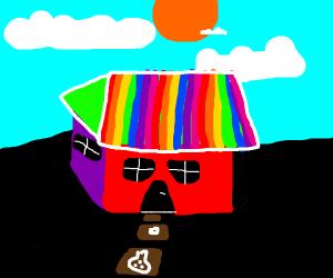 Acid rainbow house
