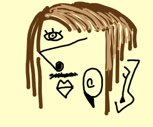 picasso portrait of a long haired man's face