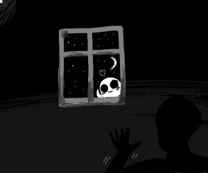 theres a ghost outside the window. hi ghost.