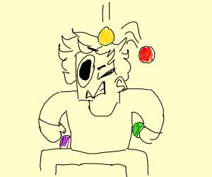 Juggler Drops his balls
