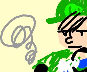 Luigi death stare (Mario kart 8)