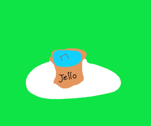 Jello with a stapler in it