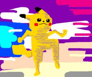 anthropomorphic pikachu