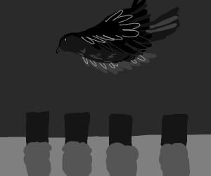 Bird in Cemetery