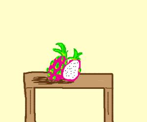 dragon fruit on a table