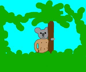 Naked koala man