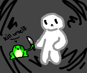 Theodd1sout has frog help with suicide