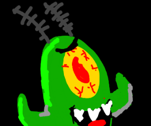 Plankton from spongebob out to kill Mr. Krabs