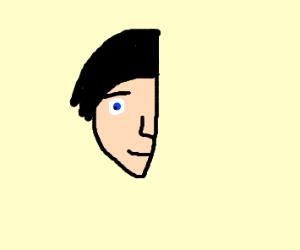 half of a head
