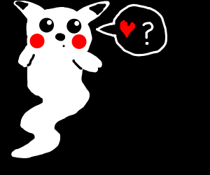 pikachu ghost is searching for a valentine
