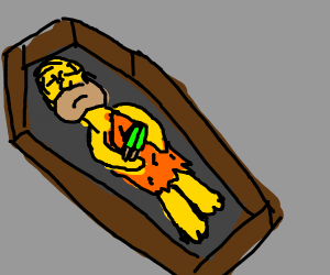 Homer Flintstone died with a popsicle