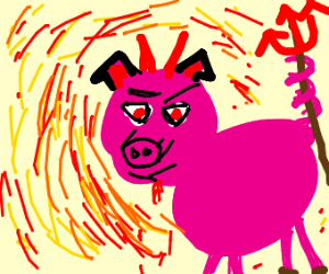 Pig Demon in hell (could be satan)