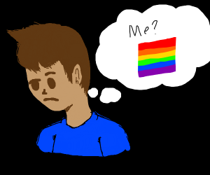 a guy thinking about being gay