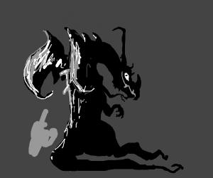 sinister black dragon