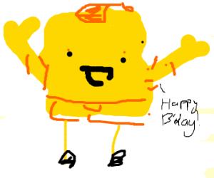 Spongebob says Happy Birthday
