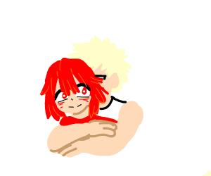 Bakugou gives Kirishima a hug