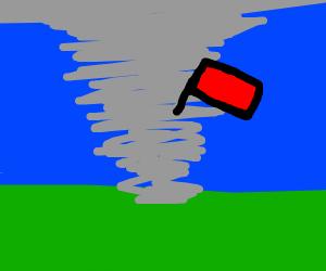 Flag in a Hurricane