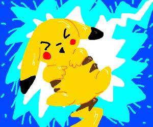 Pikachu shooting lightning