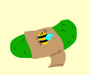 Pickle wearing Bee Shirt