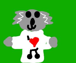 koala loves music