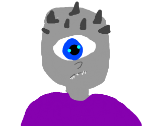 A Cyclops with a blue eye