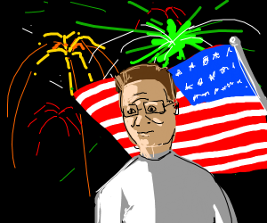 Hank Hill celebrating the 4th of July