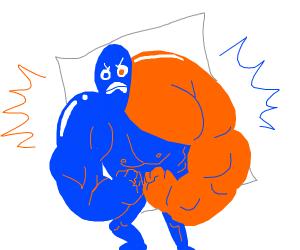 Tide pod flexing his muscles